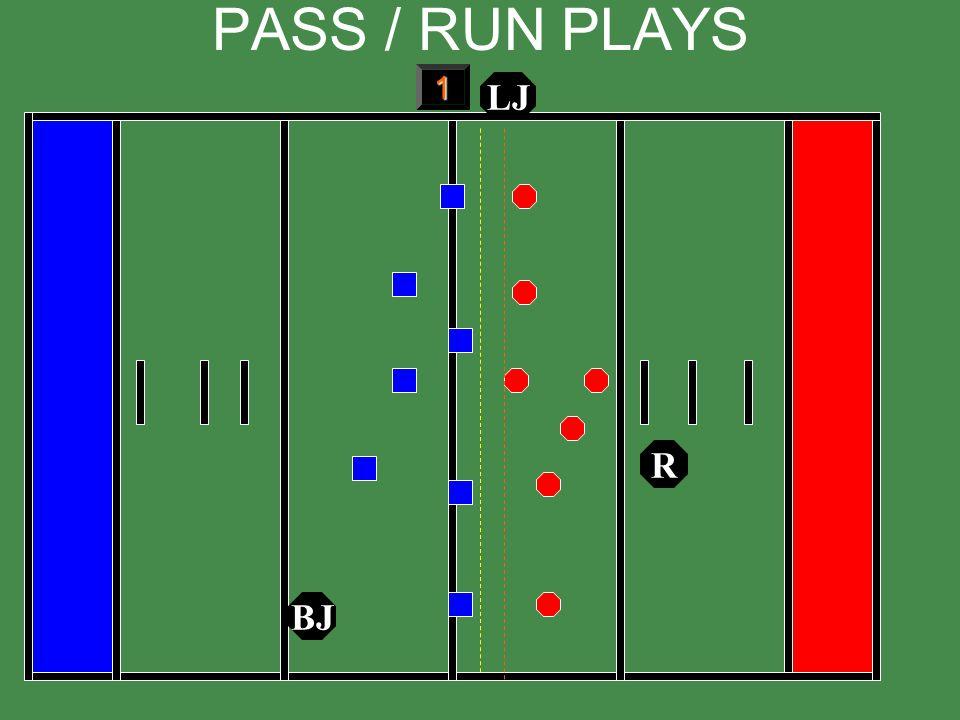 PASS / RUN PLAYS 1 LJ R BJ