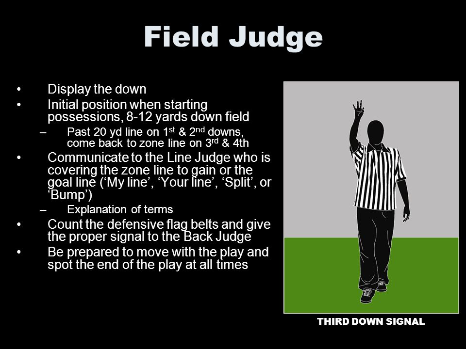 Field Judge Display the down