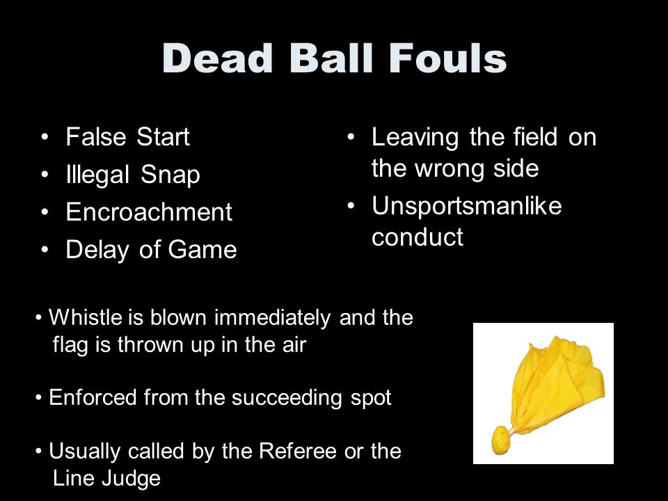 Dead Ball Fouls False Start Illegal Snap Encroachment Delay of Game