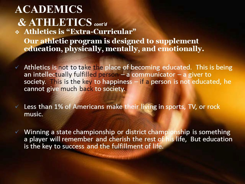 ACADEMICS & ATHLETICS cont'd