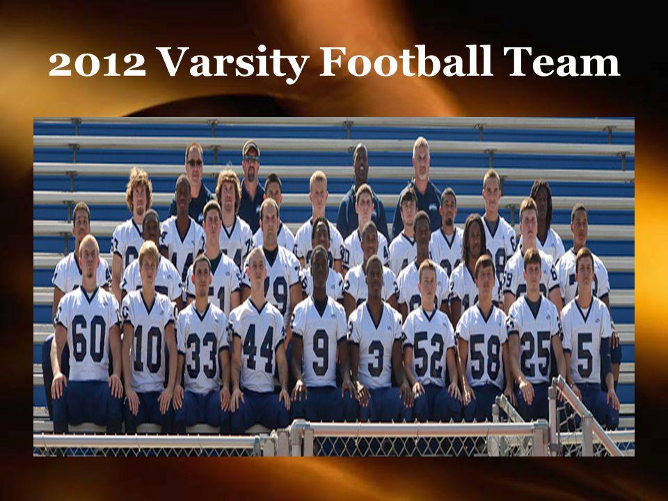 2012 Varsity Football Team