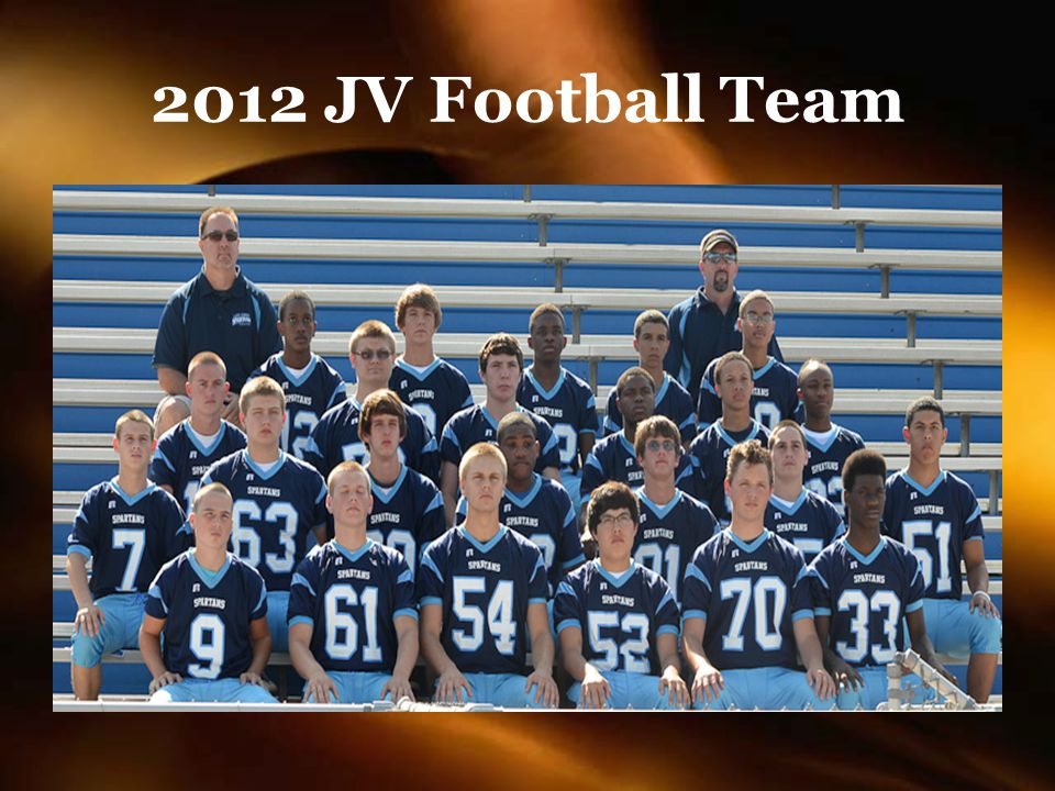 2012 JV Football Team