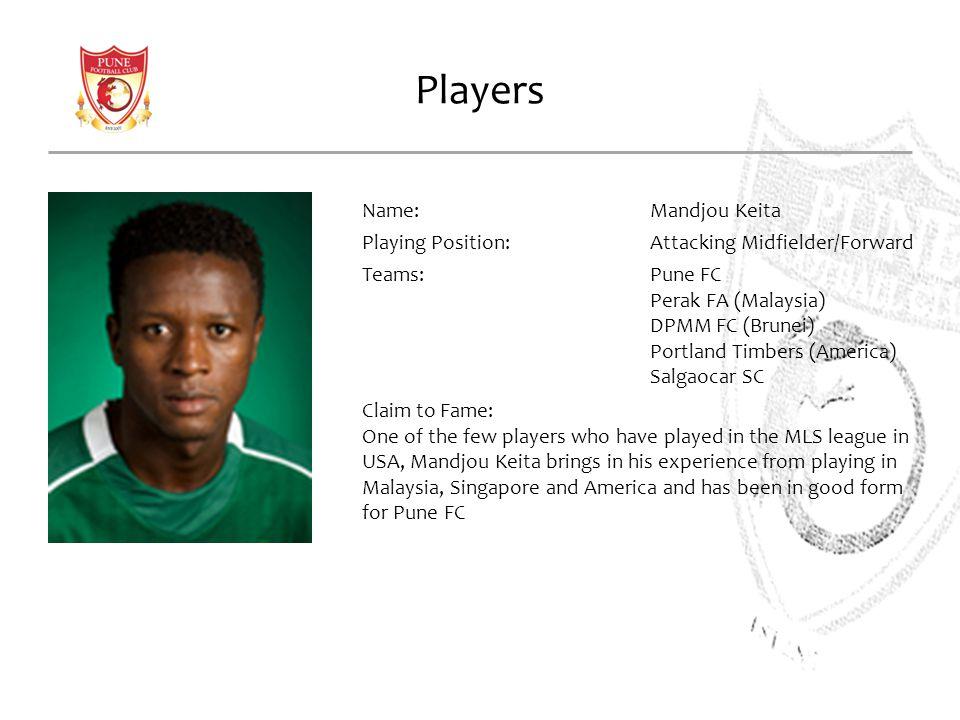 Players Name: Mandjou Keita