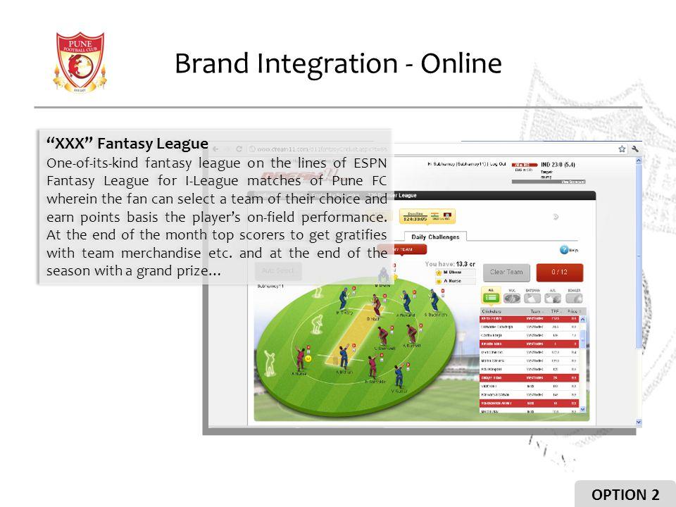 Brand Integration - Online