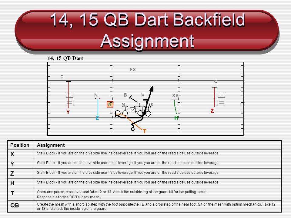14, 15 QB Dart Backfield Assignment
