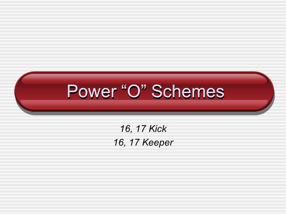 Power O Schemes 16, 17 Kick 16, 17 Keeper