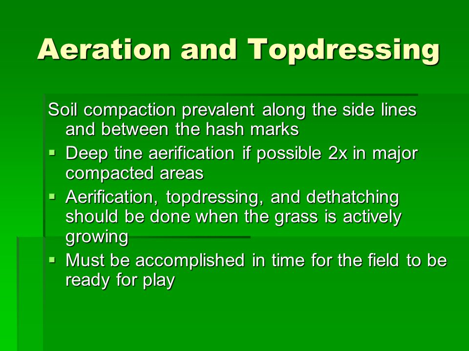 Aeration and Topdressing