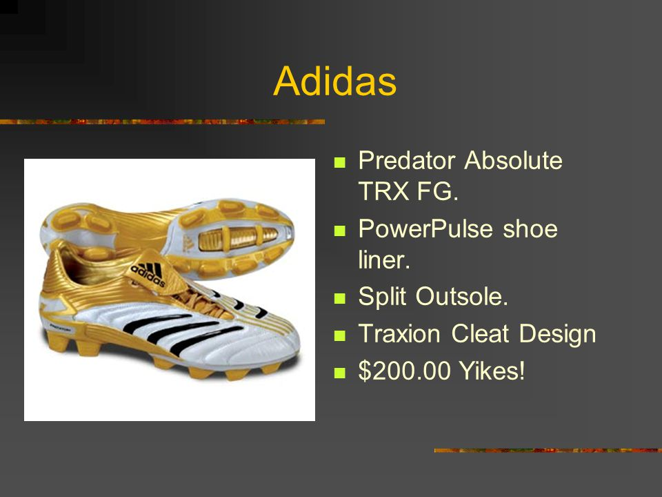 Adidas Predator Absolute TRX FG. PowerPulse shoe liner. Split Outsole.