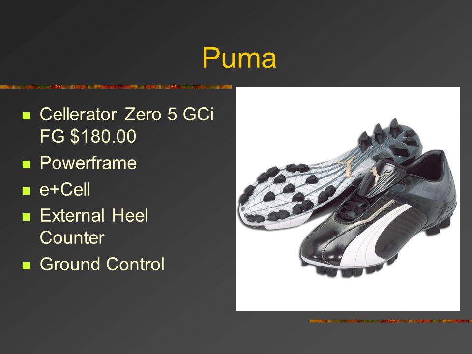 Puma Cellerator Zero 5 GCi FG $180.00 Powerframe e+Cell
