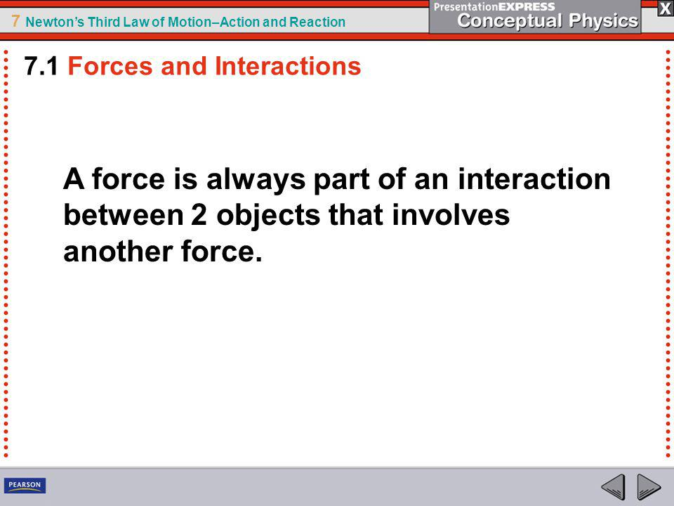 7.1 Forces and Interactions
