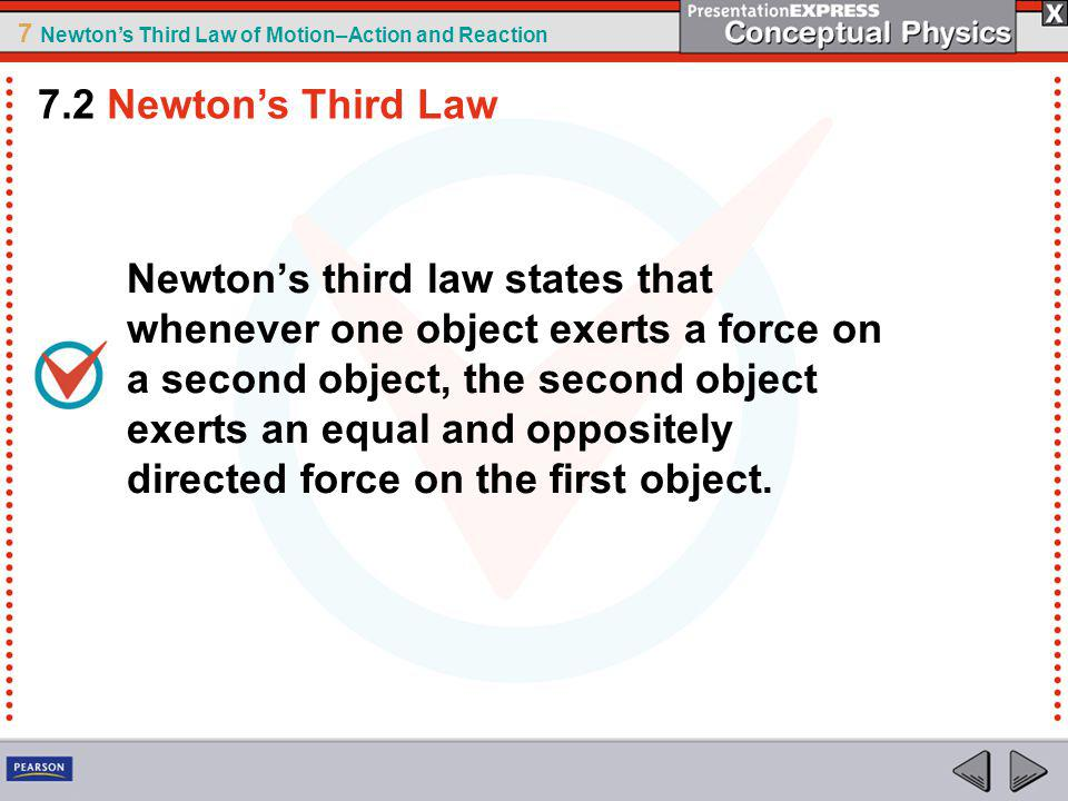 7.2 Newton's Third Law