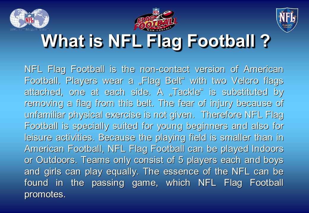 What is NFL Flag Football