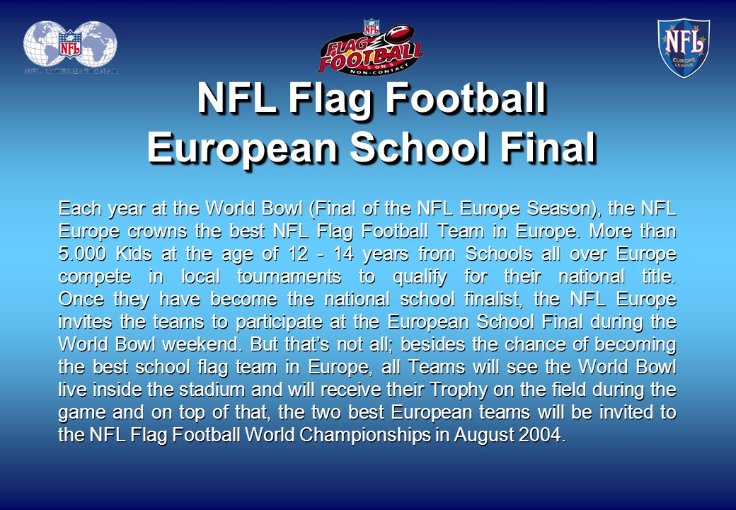 NFL Flag Football European School Final