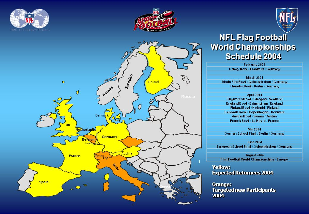 NFL Flag Football World Championships Schedule 2004