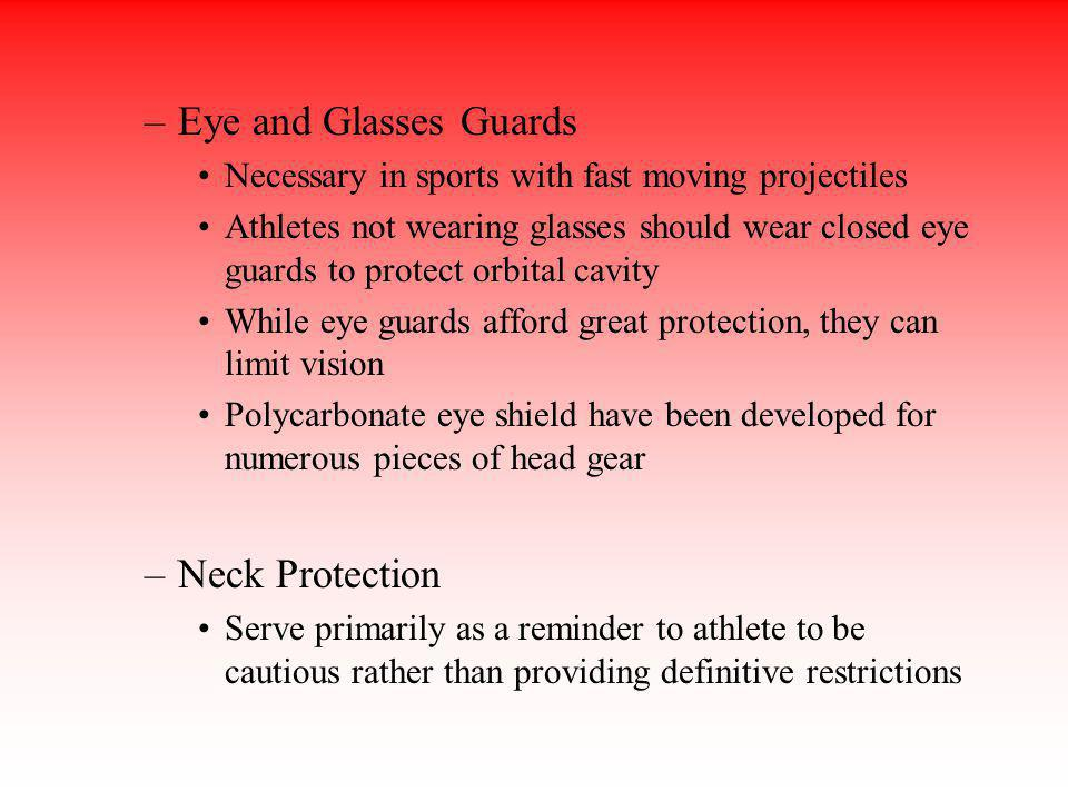 Eye and Glasses Guards Neck Protection