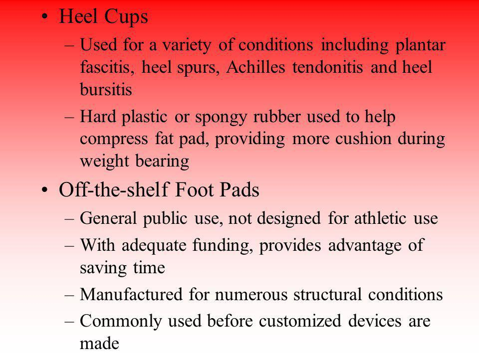 Off-the-shelf Foot Pads