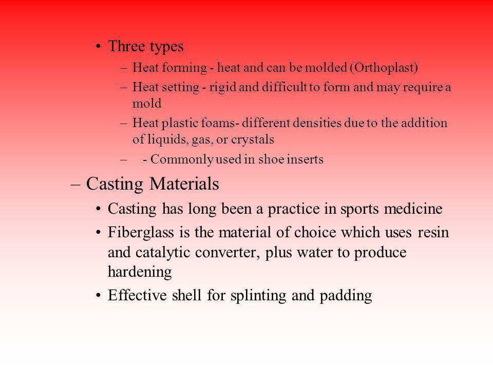 Casting Materials Three types