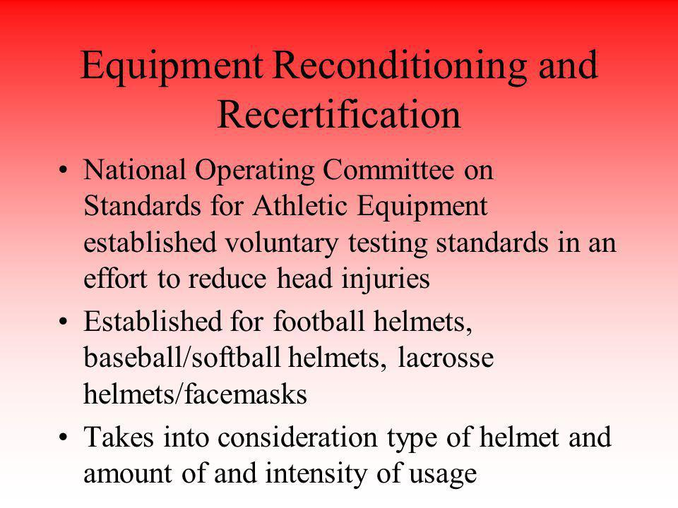 Equipment Reconditioning and Recertification