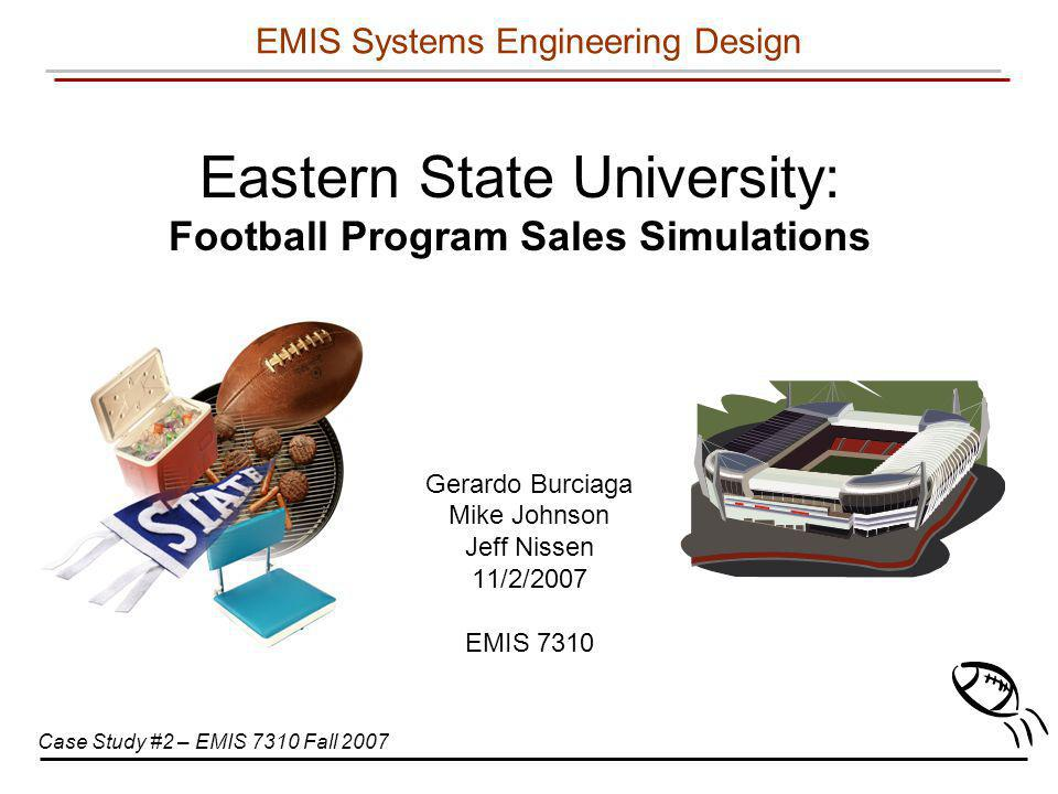 Eastern State University: Football Program Sales Simulations