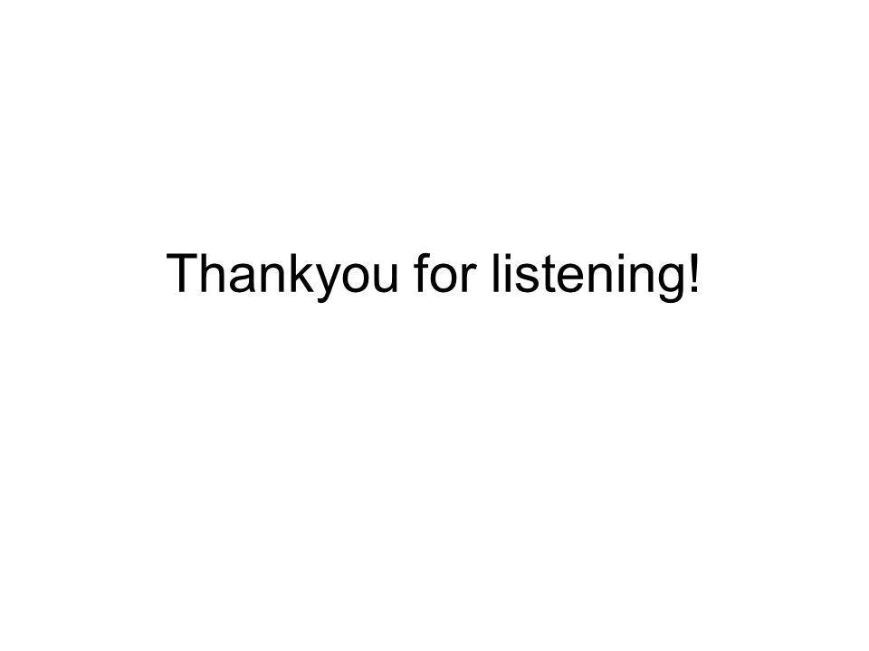 Thankyou for listening!