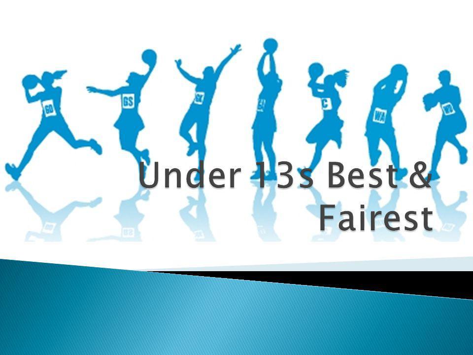 Under 13s Best & Fairest