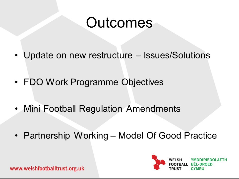 Outcomes Update on new restructure – Issues/Solutions