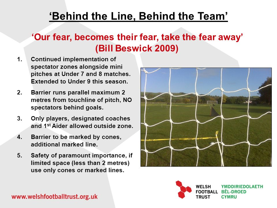 'Behind the Line, Behind the Team'