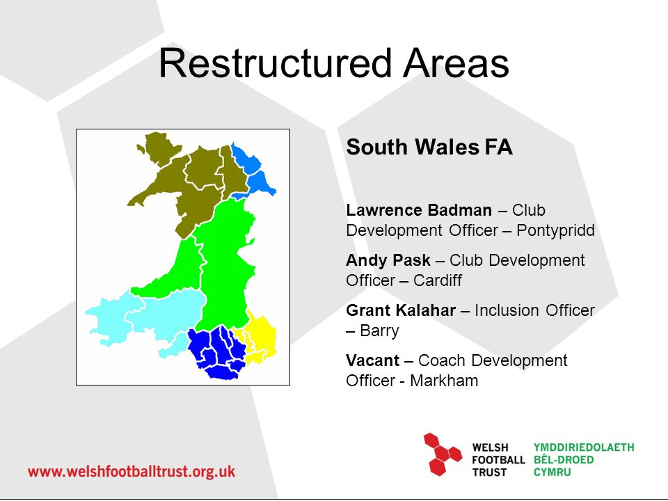 Restructured Areas South Wales FA