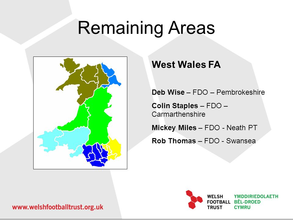 Remaining Areas West Wales FA Deb Wise – FDO – Pembrokeshire