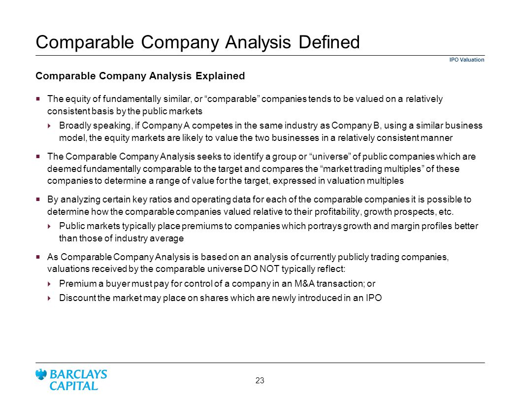 Comparable Company Analysis Defined