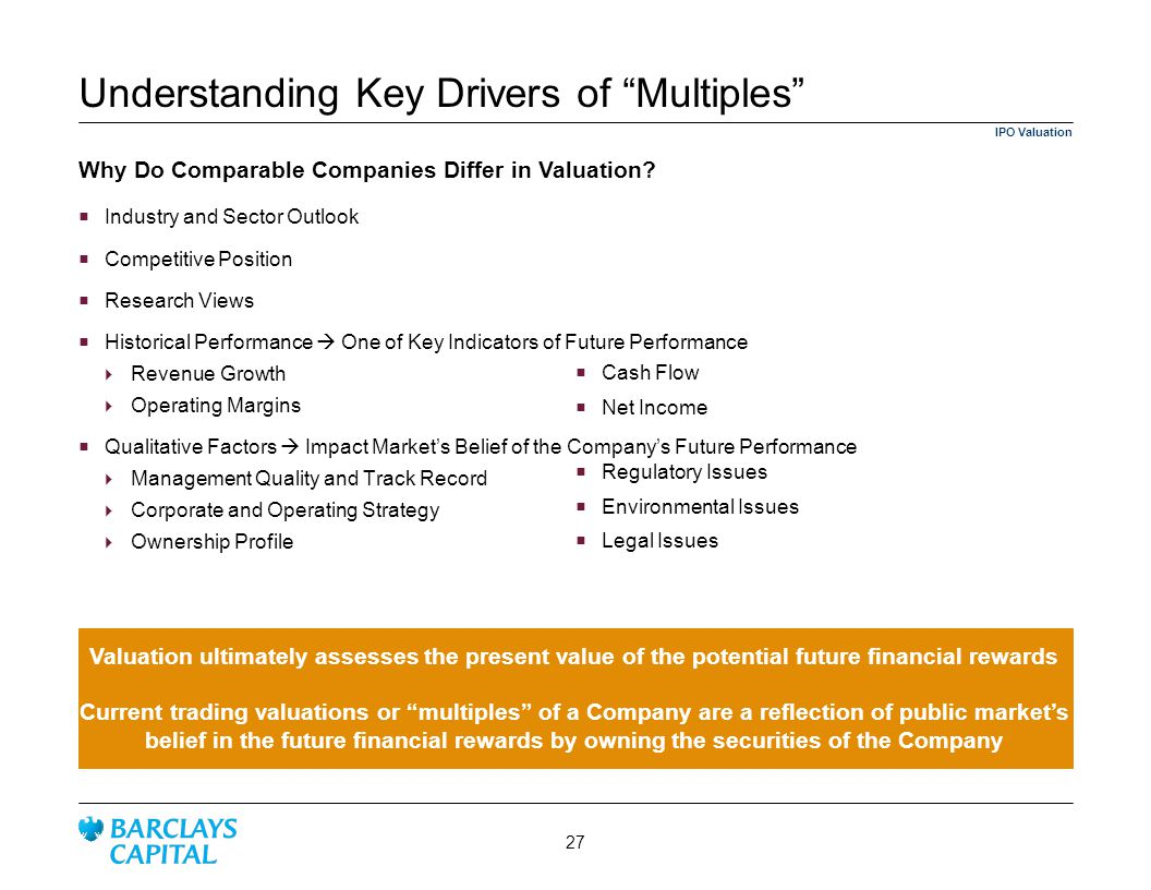 Understanding Key Drivers of Multiples