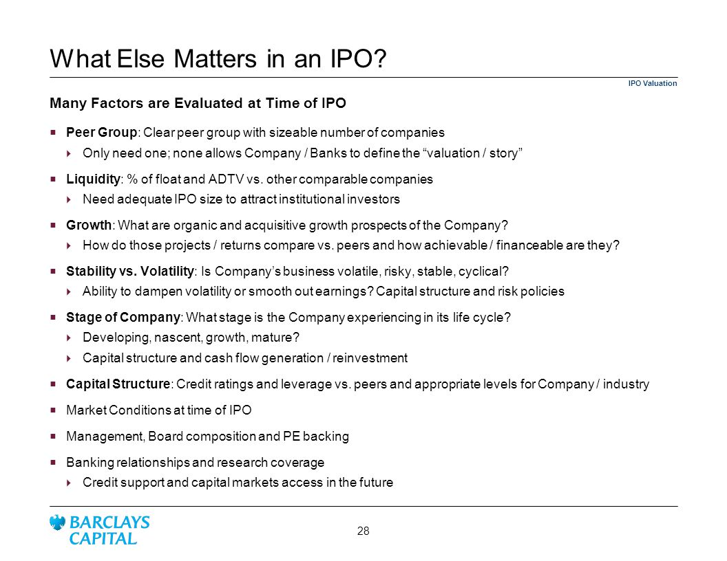 What Else Matters in an IPO