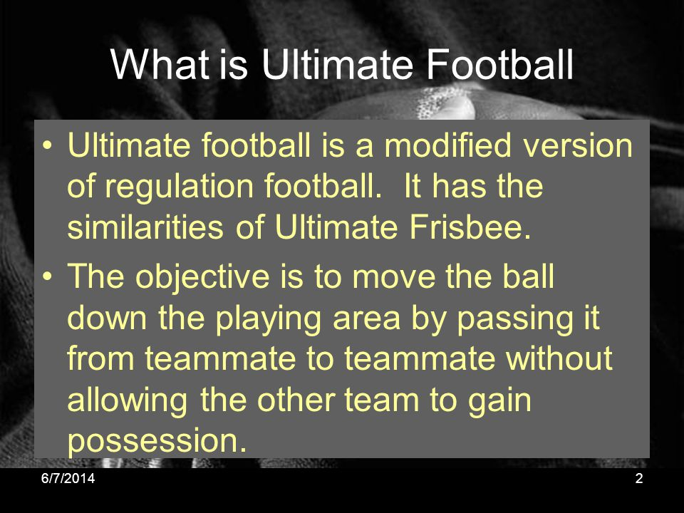 What is Ultimate Football