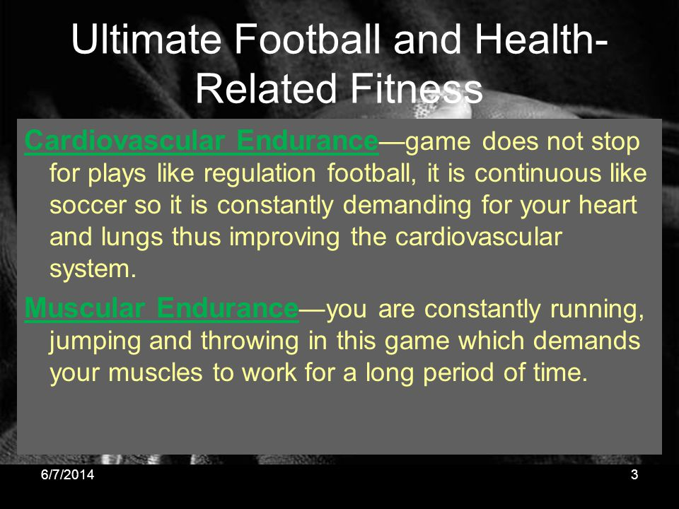 Ultimate Football and Health-Related Fitness