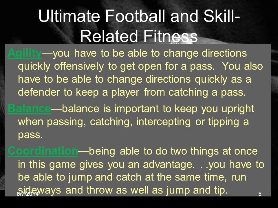 Ultimate Football and Skill-Related Fitness