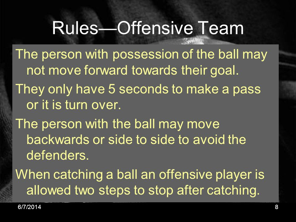 Rules—Offensive Team