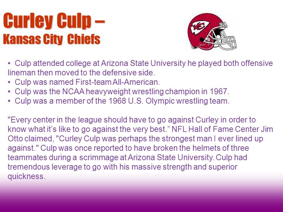 Curley Culp – Kansas City Chiefs