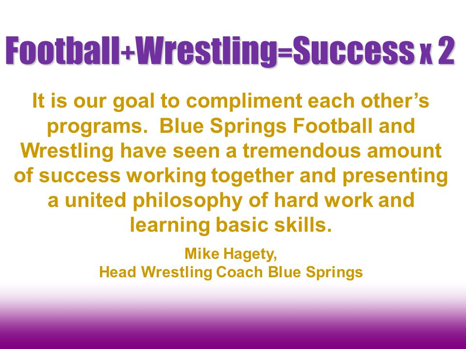 Football+Wrestling=Success X 2