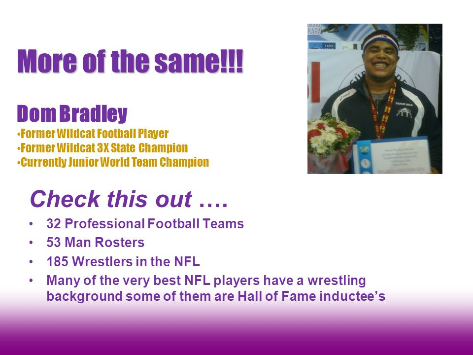 More of the same!!! Check this out …. Dom Bradley