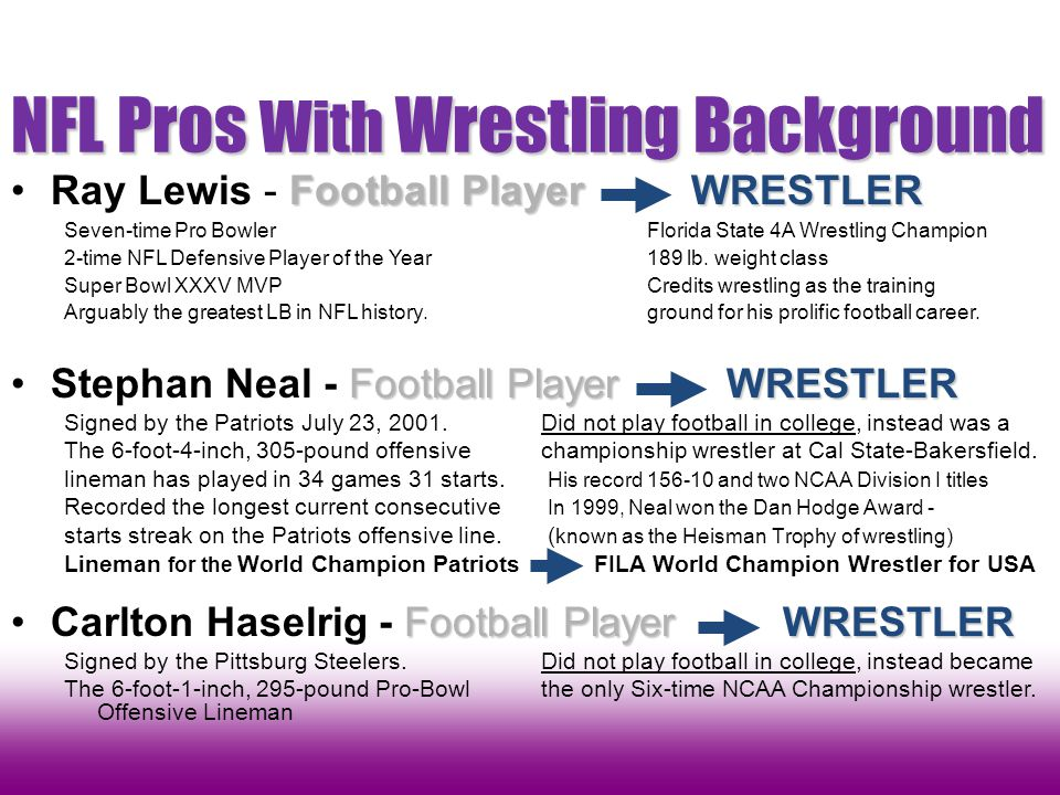 NFL Pros With Wrestling Background