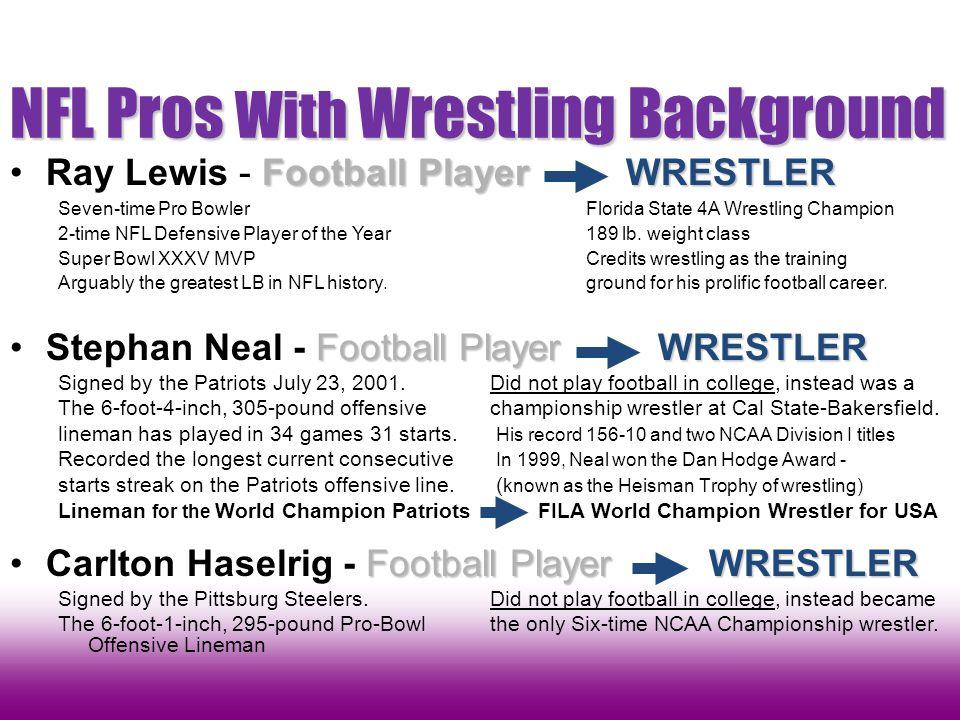 NFL Pros With Wrestling Background