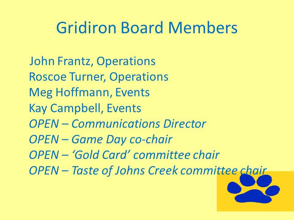Gridiron Board Members