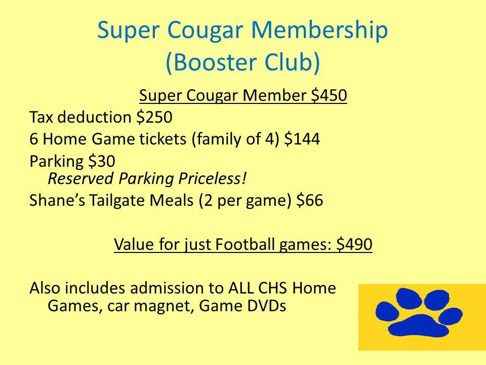 Super Cougar Membership (Booster Club)