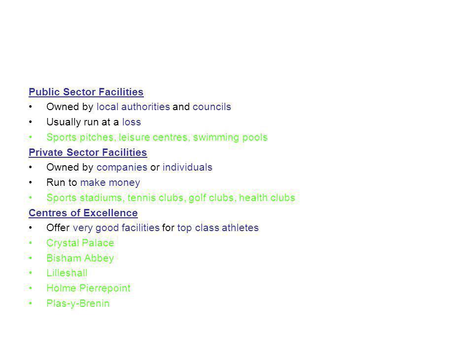 Public Sector Facilities