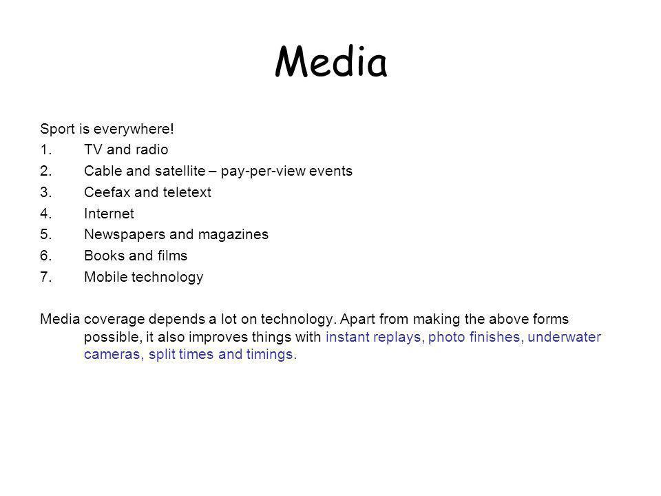 Media Sport is everywhere! TV and radio