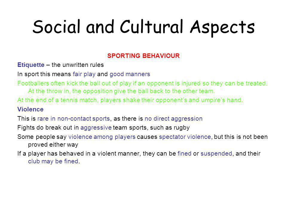 Social and Cultural Aspects