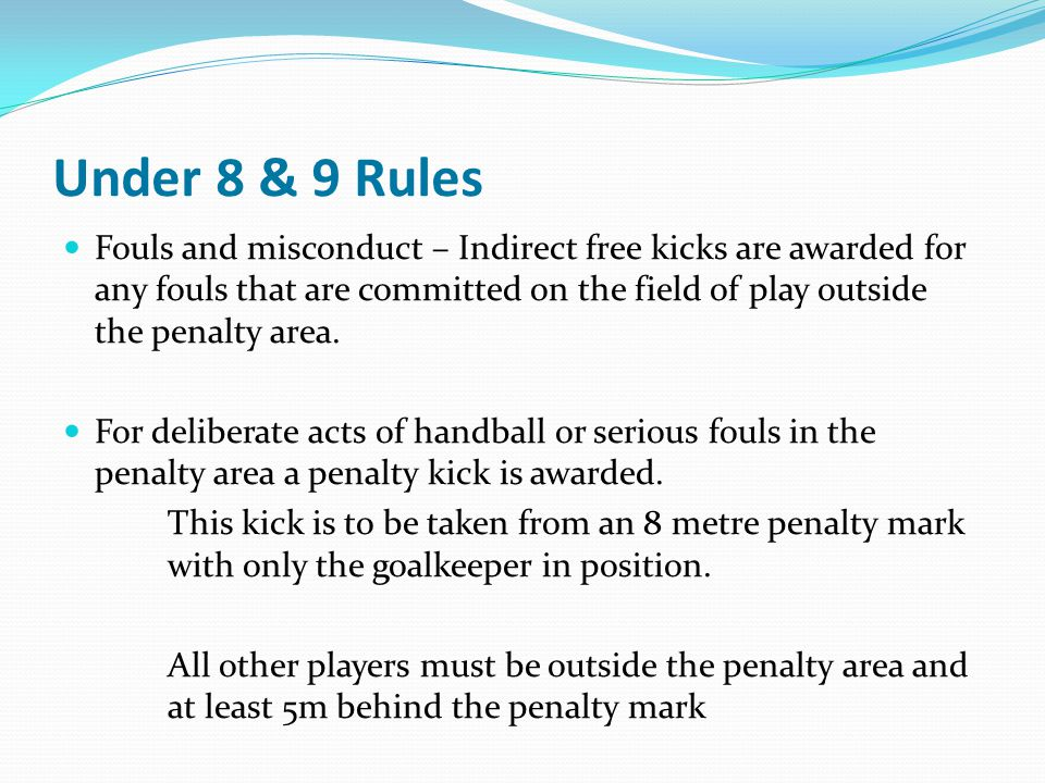 Under 8 & 9 Rules