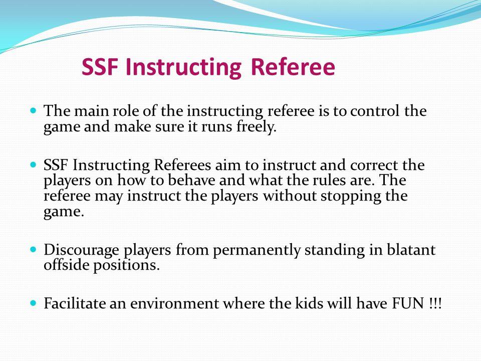SSF Instructing Referee