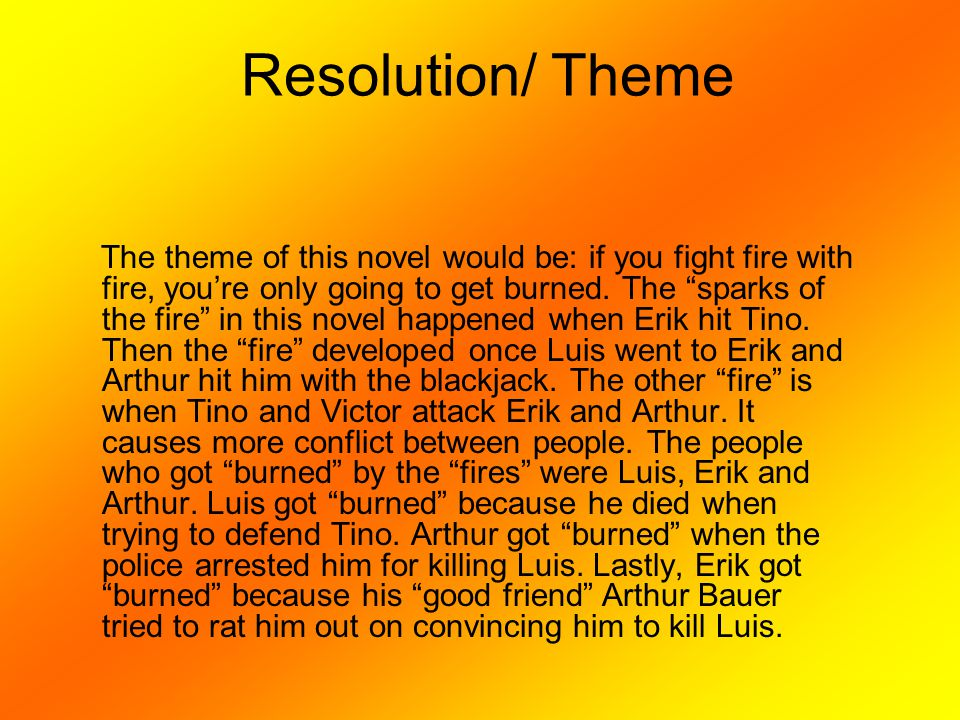 Resolution/ Theme