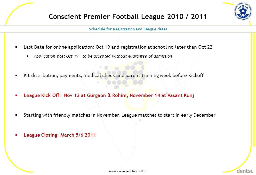 Conscient Premier Football League 2010 / 2011